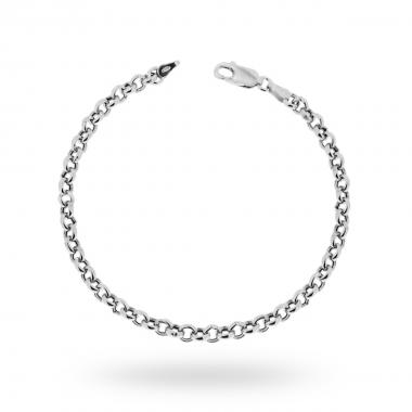 Bracciale Catena Rolò mm 4.4 in Argento 925 Rodiato