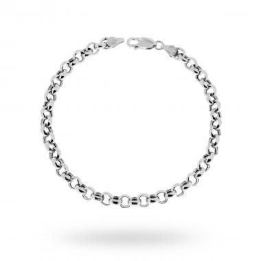 Bracciale Catena Rolò mm 5.3 in ARGENTO 925 Rodiato