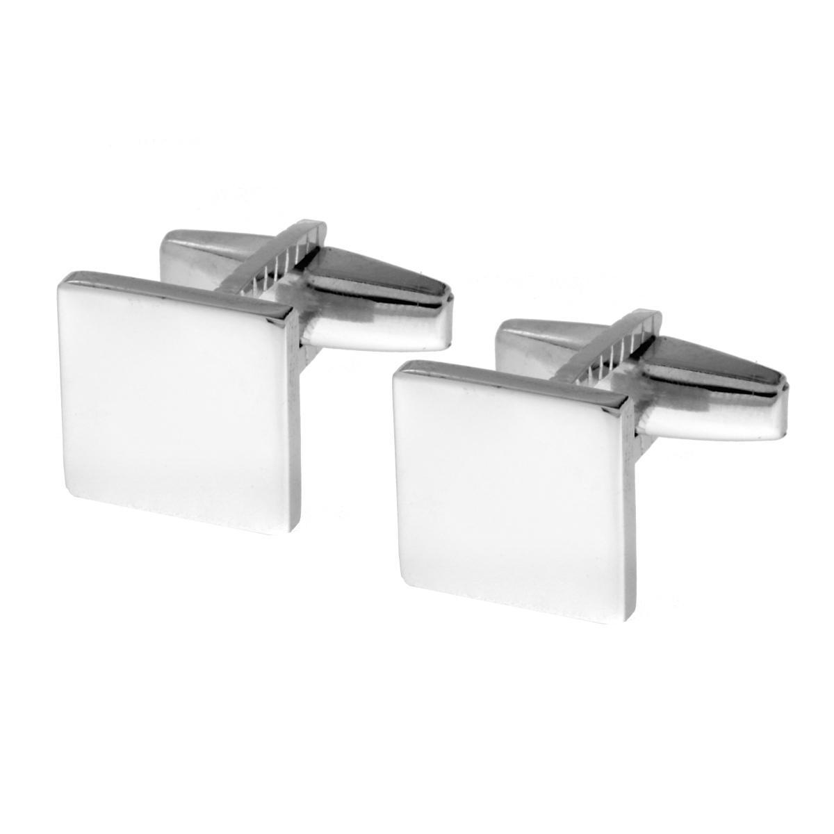 selezione migliore ae0ab 31109 Accessori Gemelli Uomo forma Quadrata plain mm 13 in ARGENTO 925 Rodiato  16714
