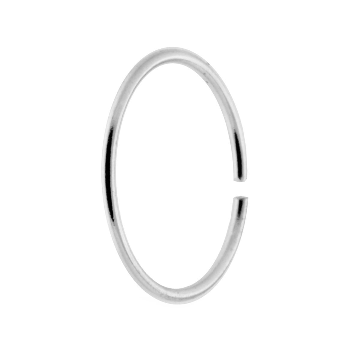 Orecchini Cerchio Argento 925 Piercing Naso 10  mm